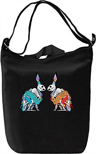 White rabbit Borsa Giornaliera Canvas Canvas Day Bag| 100% Premium Cotton Canvas| DTG Printing|