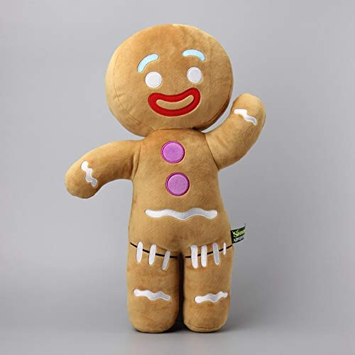 Large Size 48 cm Shrek Gingerbread Man Bigheadz Stuffed Plush Toys Soft Cushion Pillow Dolls Kids Gift -