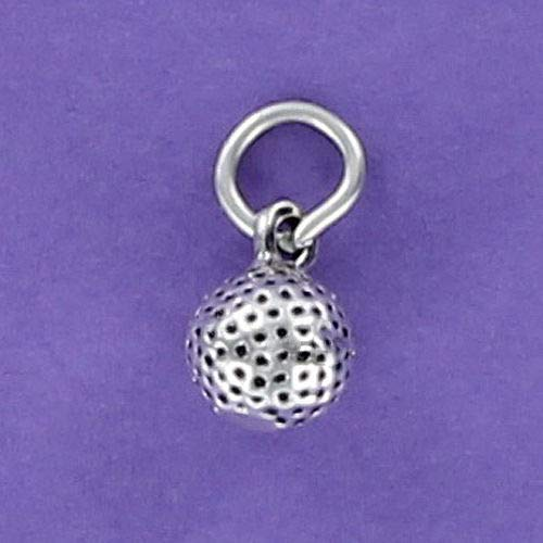 Golf Ball Charm Sterling Silver for Bracelet Country Club Links Driver Green - Jewelry Accessories Key Chain Bracelets Crafting Bracelet Necklace Pendants
