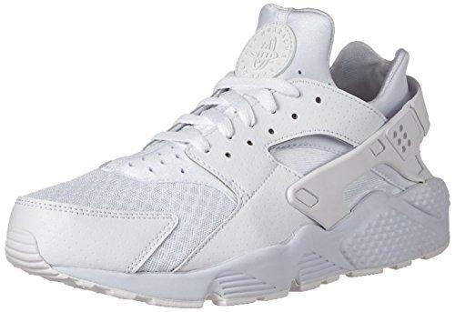 (Nike Men's Air Huarache White/White/Pure Platinum Running Shoe 8 Men US)