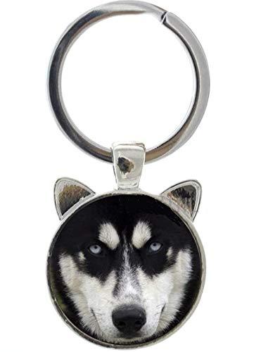 Amazon.com: FTH Adorable Siberian Husky perro llavero con ...