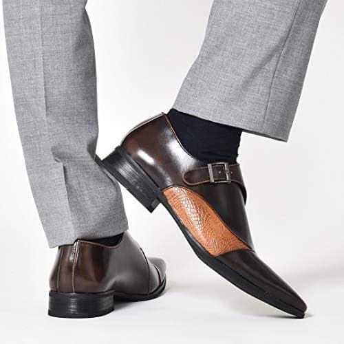 ビジネスシューズ メンズ ロングノーズ レースアップシューズ モンクストラップ スリッポン シューズ ストレートチップ 外羽根 内羽根 短靴 靴 紳士靴 [BZB020 ]