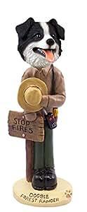 Border Collie Forest Ranger Doogie Collectable Figurine