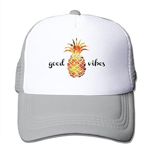 Adult The Pineapple Good Vibes Adjustable Mesh Hat Trucker Baseball Cap Ash - Knights Mesh Cap