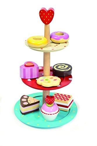 Le Toy Van 3 Tier Cake Stand Set with Wooden Desserts by Le Toy Van - Dessert Elizabeth