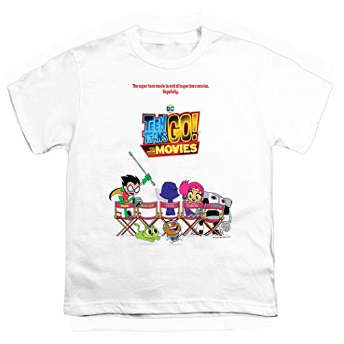 - Teen Titans Go! to The Movies Poster Youth T Shirt (Medium)