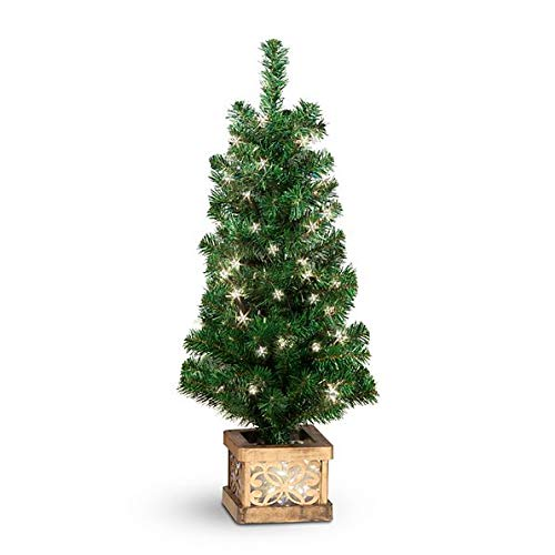 Outdoor Lighted Porch Christmas Trees in US - 1