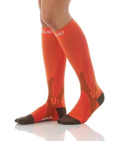 e0371bbc96 Authentic, Mojo Sports Compression Socks for Recovery & Performance, Compression  Stockings (Orange,