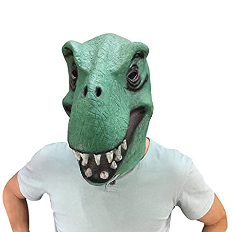 HRToys Deluxe Novelty Halloween Costume Party Latex Animal Head Mask (Dinosaur) - Dinosaur Head