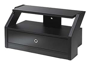 Gisan PLS.60 / NE - Soporte de pie para pantalla plana (Portátil, Negro, Vidrio, MDF)