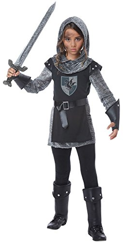 Noble Knight Girls Costume Black/Silver -