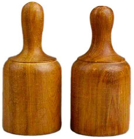 Camisin 2Pcs Fragrant Wood Cups Therapy Body Cupping Massage Set Acupuncture Wooden Vacuum Stress Relief Health Care