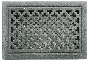 Grille rectangulaire encastrable Brut de fonderie 220x160