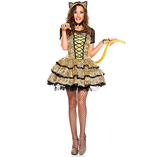 Yunfeng Witch Costume Witch Costume Halloween Costume Corset Cat Costume Party Costume Parties Costume cat Dress Up Performance Costume