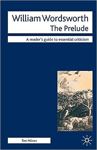 Amazoncom William Wordsworth The Prelude Readers