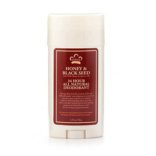 Nubian Heritage Honey and Black Seed Deodorant With Wild Honey and Apricot Oil, 24 Hour Protection