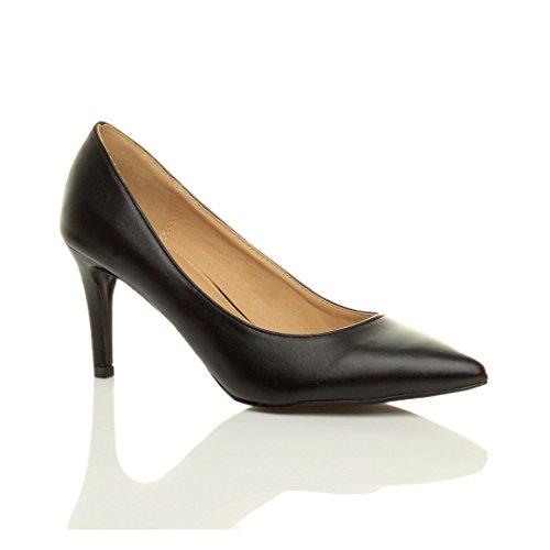 Pointu Tenue Talon Noir Femmes Simple Chaussures Mat Essentiel Pointure Escarpins Moyen ftXfwnqpT