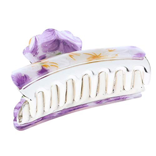 Womens Flower Hair Claw Clamps Clips Grips Styling Tool Hair -