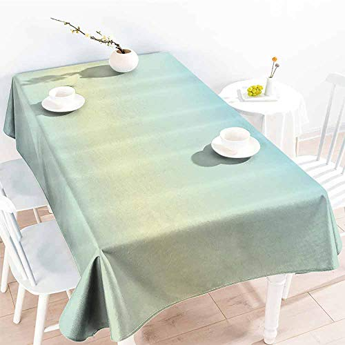 GOMAE Creative Rectangle Tablecloth Teal Defocused Abstract Design in The Center Blurred Color Elements Sky Blue Like Artwork Baby Blue Buffet,Parties,Holiday Dinner,Picnic 70x120 (World Trade Center Woman In The Hole)