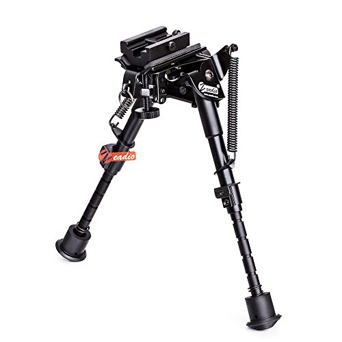 Zeadio Swivel Pivot Tiltable Bipod with Sling Mount and Picatinny/Weaver Adapter, 6-9 -