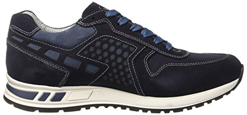 Nero Sneaker A Basso Uomo Giardini Collo 200 Blu P704901u gqfWxSgr