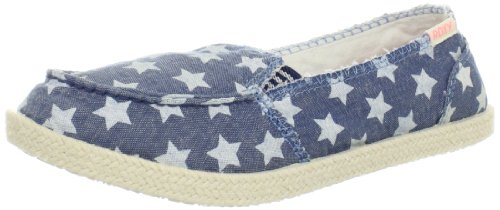 Roxy Women's Lido Rope Loafer,Blue/White Stars,6 B US
