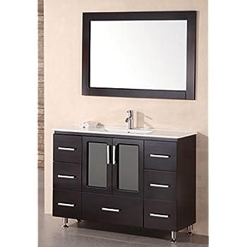 Design Element Stanton Single Drop In Sink Vanity Set With