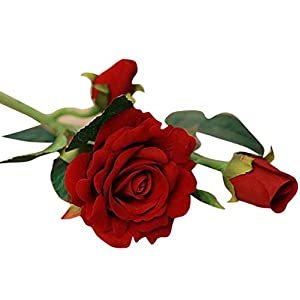 Artificial Flower!Elevin(TM) 5pcs Real Latex Touch Rose Flowers For wedding And Home Design Bouquet Decor 17