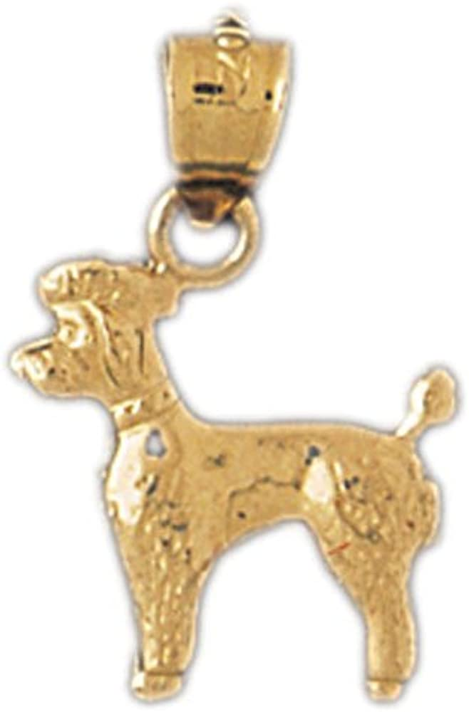 Box or Curb Chain Necklace 14k Yellow Gold Dog Pendant on a 14K Yellow Gold Rope