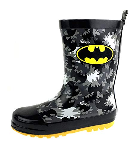 DC Comics Boys Batman Wellington Boots Rain Boots Black/Yellow