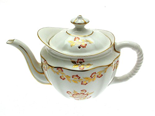 Royal Crown Derby Gold and Red Pattern Teapot