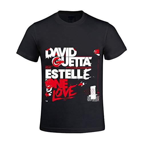 David Guetta One Love Remixes Men Shirt Round Neck Digital Printed Black (Cabaret Outfits)