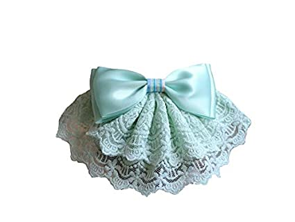 AAWWEERRTYU Bolso Cubre Show Bow Barrette Pinza de pelo Horquilla Bow Tie Redecilla para mujer Bowknot