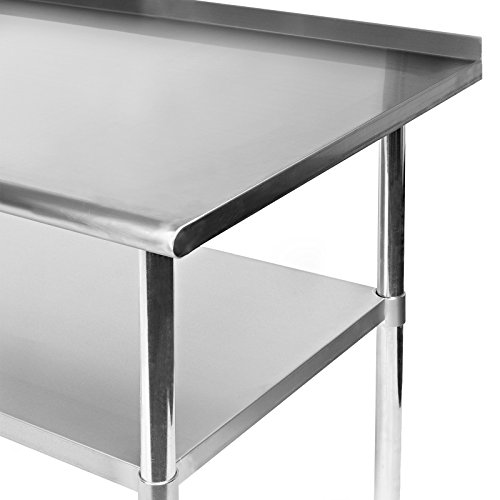 Gridmann Stainless Steel Commercial Kitchen Prep & Work Table with Backsplash, 48 x 24 Inches by Gridmann (Image #3)