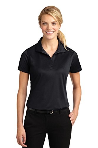 Sport-Tek Ladies Micropique Sport-Wick Polo 3XL Black