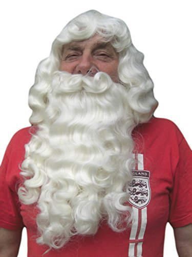[PROFESSIONAL FATHER CHRISTMAS WIG AND BEARD SET by Vanessa Grey Hair Designs] (Fake Beards That Look Real)