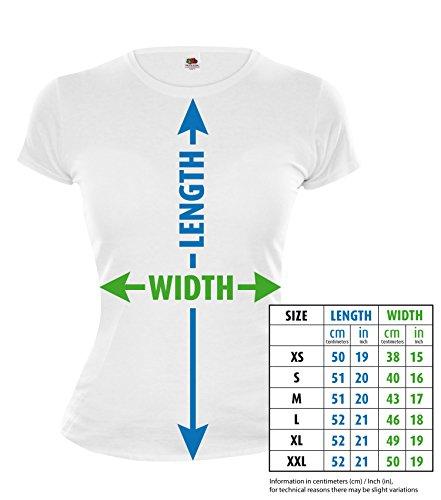 buXsbaum Girlie T-Shirt Pole Vaulting-Pictogram-XS-Fuchsia-White