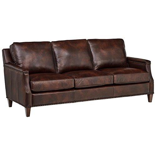 Stone & Beam Marin Leather Nailhead Studded Sofa Couch, 87