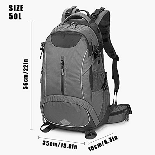 Tourism Short Trips Outdoor Etc. Cycling ZHJWHWABBAO Outdoor Mountaineering Bag Ergonomic Backpack Hiking Camping Waterproof Bag for Men and Women Red 50 L for Hiking