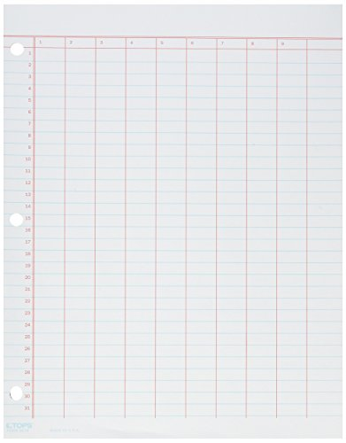 TOP3619 - Data Pad w/Numbered Column Headings - 3619 Data Pad