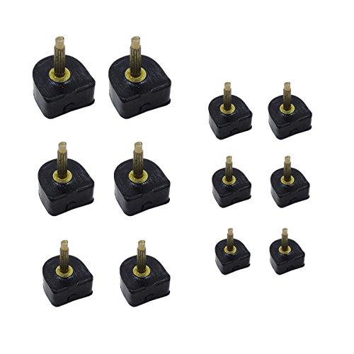 - 24 Pairs Heel Tip Taps High Heel Caps Shoes Replacement Dowels Shoe Repair Tip Taps, 7mm, 8mm, 9mm, 10mm, 11mm, 12mm