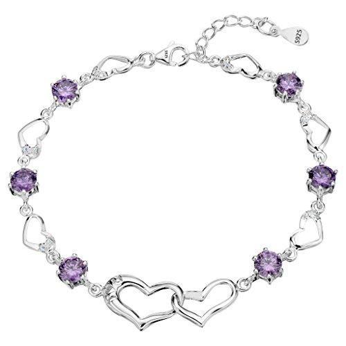 EleQueen Sterling Silver Zirconia Bracelet product image