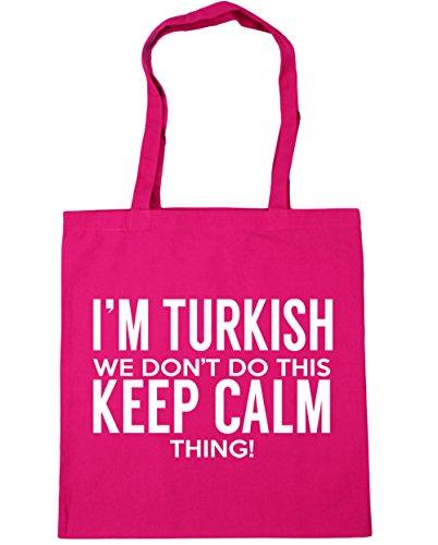 HippoWarehouse I 'm turco que no hacer esto lo Keep Calm bolsa de la compra bolsa de playa 42cm x38cm, 10litros fucsia