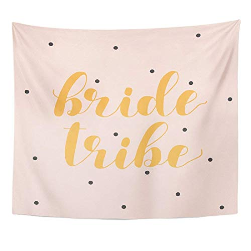 Tapestry Bride Tribe Brush Hand Lettering Inspiring Quote Motivating Modern Calligraphy Overlays Prints Home Decor Wall Hanging for Living Room Bedroom Dorm 50x60 inches