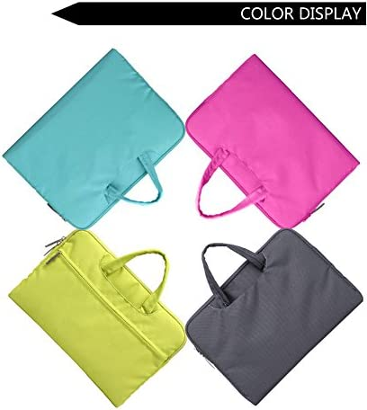 Gearmax Campus Slim Case 13.3 Waterproof Laptop Messenger Bag for MacBook with Small Case and Mousepad Lime Green Color