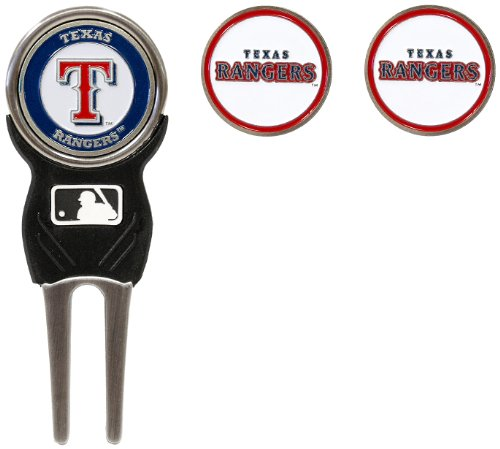 - Team Golf MLB Texas Rangers Divot Tool with 3 Golf Ball Markers Pack, Markers are Removable Magnetic Double-Sided Enamel
