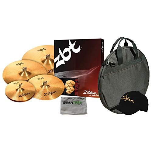 (Zildjian ZBTP390A ZBT 5 Cymbal BOX SET with Free 18 Inch ZBT Crash and Cymbal Bag)