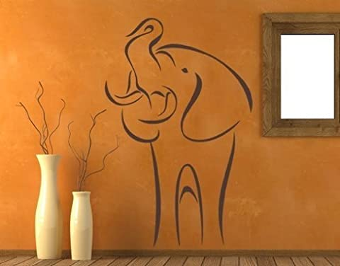 Abstract Elephant Wall Decal by Style & Apply - highest quality wall decal, sticker, mural vinyl art home decor - 1032 - Red, 47in x - 1032 Red Kitchen