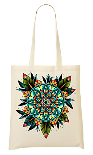 Joy Old school Collection Painted Vintage Spiritual Flower Bolso De Mano Bolsa De La Compra