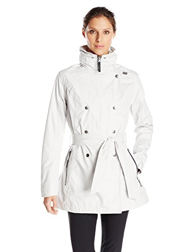 Helly Hansen Women's Welsey Rainwear Trench Coat, Ash Grey, X-Small